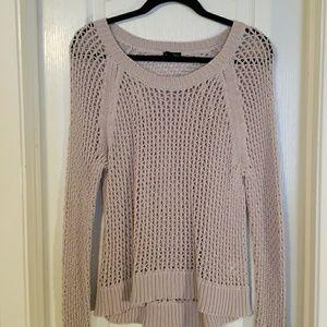 Open knit cotton sweater
